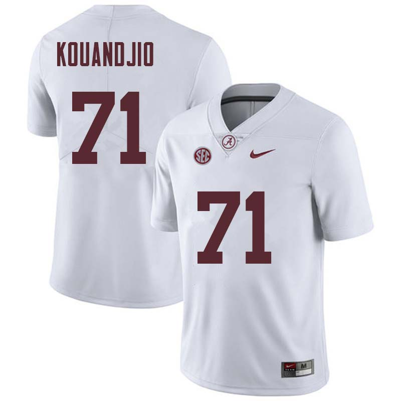 Men #71 Cyrus Kouandjio Alabama Crimson Tide College Football Jerseys Sale-White